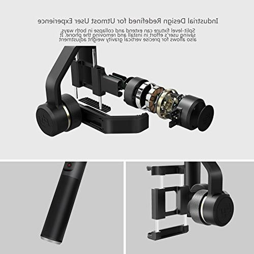 FeiyuTech Plus 3-Axis Dual Handle Gimbal, Five Screw for Flashes Tripods Clips