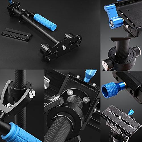Sutefoto Camera Stabilizer Gimbal Carbon Fiber DSLR Steadicam with Quick for Camera Nikon Canon/Sony/Panasonic and Video DV up
