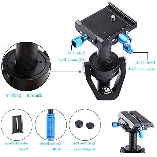 """Sutefoto Camera Gimbal DSLR Release 1/4"""" for Camera Nikon and to 2.87lbs/1.3kg"""