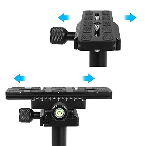 "Dazzne Camera DSLR Steadycam Quick Release and 3/8"" for Canon, Sony, Panasonic-up 0.2-1.5kg/0.44-3.31Ib"
