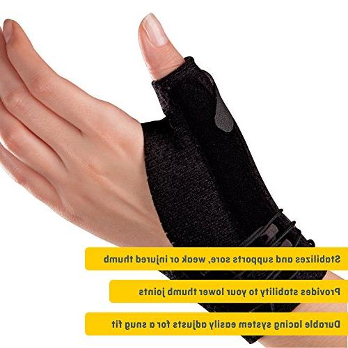 Futuro Thumb Improves Stability, Stabilizing Support, Small/Medium, Black