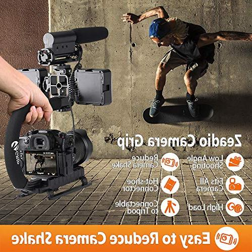 Zeadio Video Stabilizing with Metal Mount Sony Panasonic Pentax DSLR Camcorder