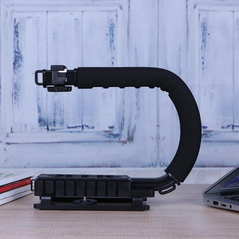 U-Grip Triple Shoe Video Grip Rig Canon Sony DSLR for iPhone 7 Gopro Smartphone