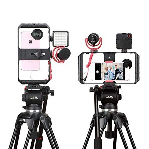 ULANZI Rig Pro Smartphone Case, Phone Video Grip Videomaker iPhone Max XR iPhone 8 Plus Samsung