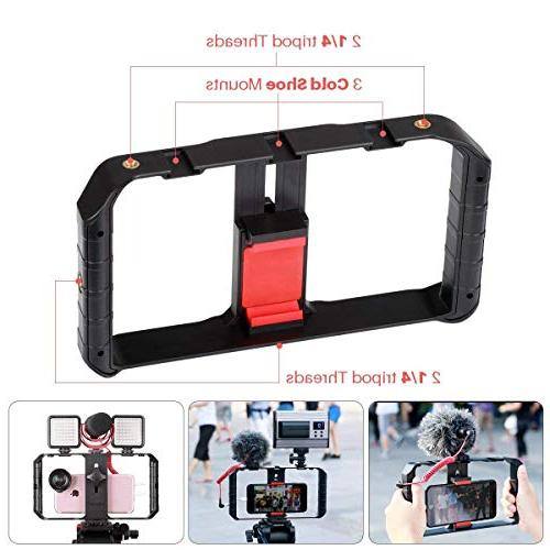 ULANZI Rig Case, Video Grip Tripod Videomaker iPhone Xs XS XR Plus Samsung