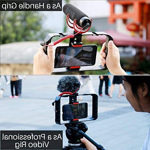 ULANZI Rig Pro Smartphone Video Case, Grip Videomaker Film-Maker iPhone Max XR iPhone Plus