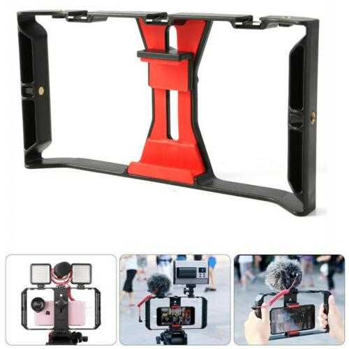 Video Camera Cage Stabilizer Film Steady Handle Grip Rig For