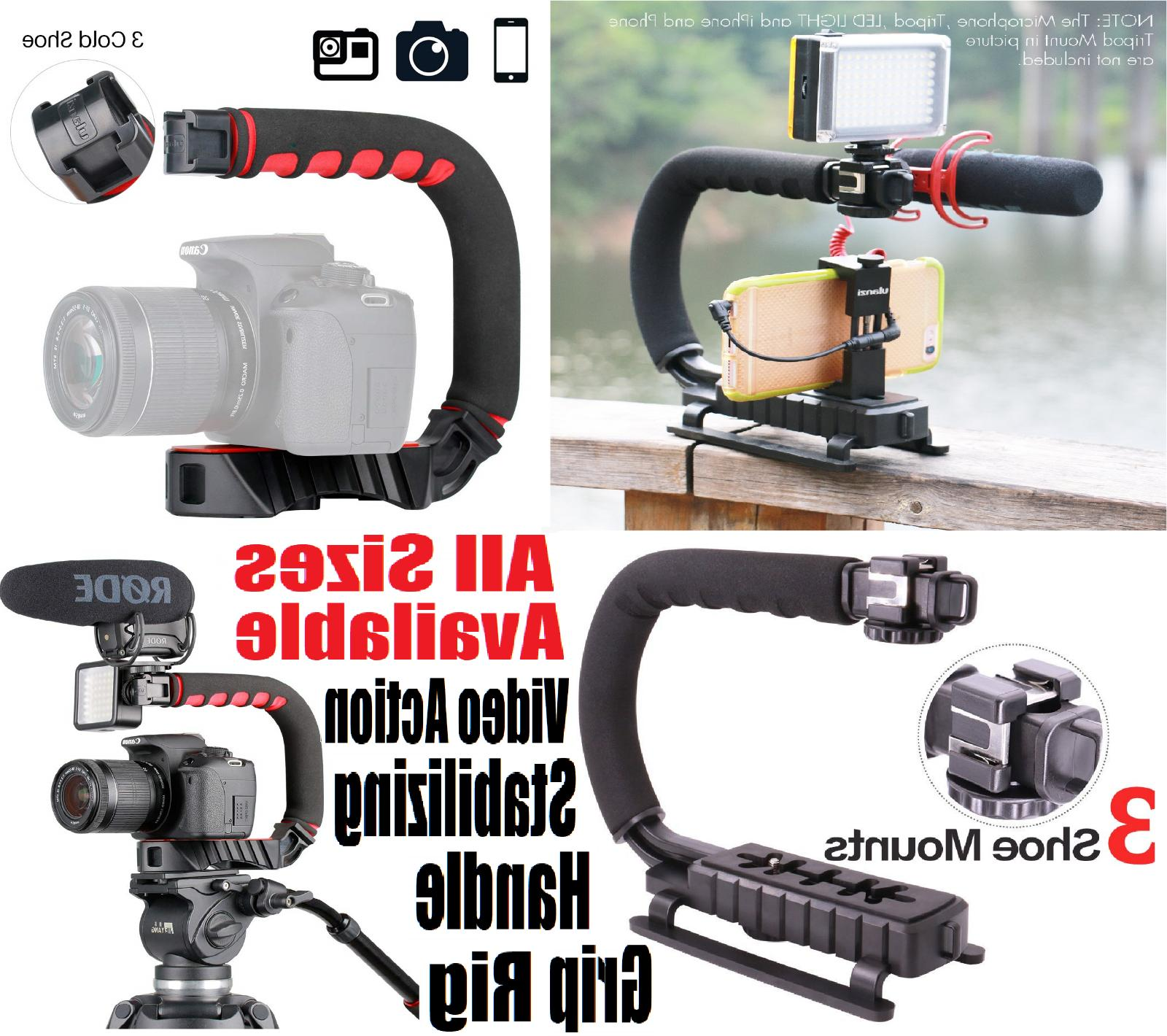 video stabilizer camera dslr handle grip rig
