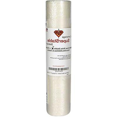 """Wash-Away Water Soluble Stabilizer 9"""" x 10 Yards Roll. Super"""