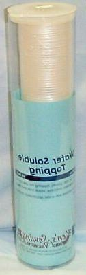 water soluble topping embroidery stabilizer new