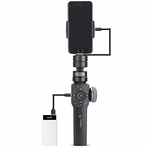 Zhiyun Smooth 4 3-Axis Handheld Gimbal Pull & iPhone Max X Plus 6 Android Samsung Galaxy S9 S8+ Q2 in 2018 Black