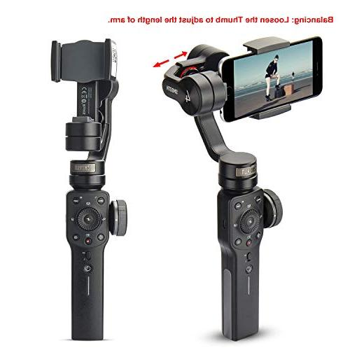 Zhiyun Smooth 4 3-Axis Handheld Stabilizer Pull & iPhone Xs Max X 6 Samsung Galaxy S9 S8+ Q2 Edge New in