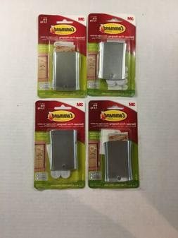 Lot of 4 Command Universal Picture Hanger w/Stabilizer Strip