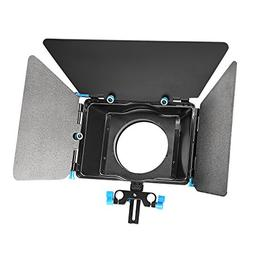 Neewer Matte Box with Donut Ring Fit 15mm Rail Rod Rig for N