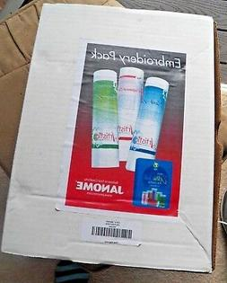 NEW Janome Embroidery Machine Thread and 3 Stabilizer Kit IO