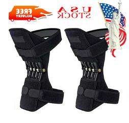Pair Knee Support Brace Patella Booster Joint Knee Pads Help