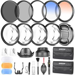 Neewer 58MM Photography Accessory Kit: Filter Set+Close-up F
