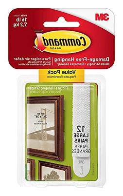 Command  Picture  & Frame Hanging Strips Sets Large Size Whi
