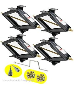 "Set of 4 5000 lb 24"" RV Trailer Stabilizer Leveling Scissor"