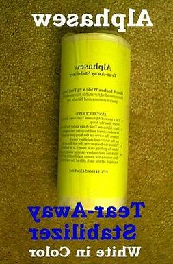 sewing embroidery white stabilizer tear away 75