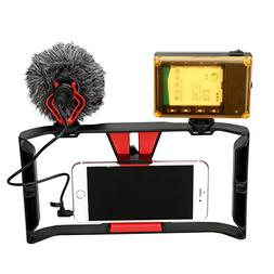 Smartphone Video Rig + 96 LED Light + Boya by-MM1 Microphone