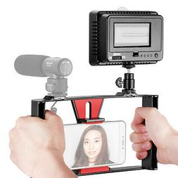 Neewer Smartphone Video Rig with Dimmable 160 LED Video Ligh