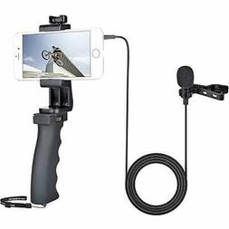 Smartphone Video Recording Stabilizer Kit, Clip-on Lavalier