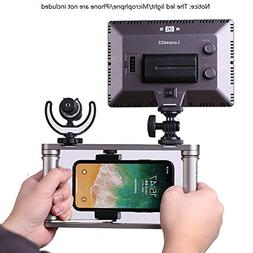 Dazzne Smartphone Video Rig, Cell Phone Grip Hand Rig for Vi