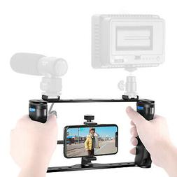 Neewer Smartphone Video Rig with Stabilizer Grip Tripod Moun