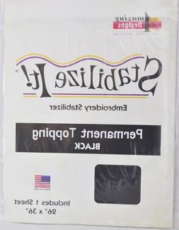 Stabalize It Embroidery Stabalizer. Permanent Topping Black