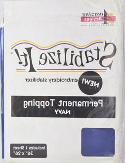 Stabalize It Embroidery Stabalizer. Permanent Topping Navy 1