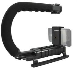 Video Stabilizing Grip + Mount + remote shutter for iPhone 8