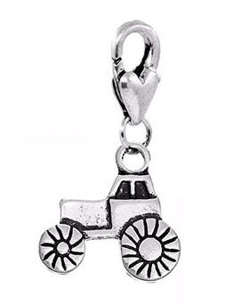 Tractor Farm Truck Farmer Gift 3D Clip On Dangle Charm for T