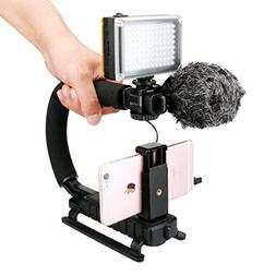 U-Grip +Phone Clip + 96 LED Light + Boya by-MM1 Microphone S