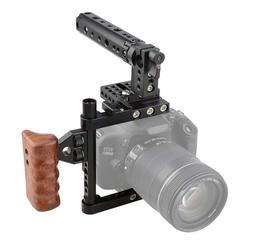 US CAMVATE DSLR Camera Cage Right Wooden Handle Mount Rig fo