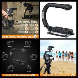 zeadio video action stabilizing handle grip handheld stabili